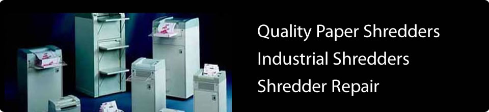 Quality paper shredders, industrial shredders, shredder repair